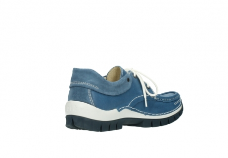 wolky chaussures a lacets 04701 fly 20890 cuir bleu_10