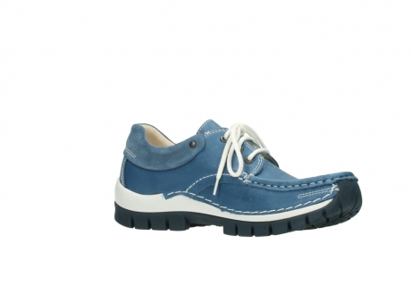 wolky chaussures a lacets 04701 fly 20890 cuir bleu_15