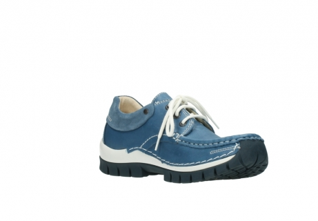 wolky chaussures a lacets 04701 fly 20890 cuir bleu_16