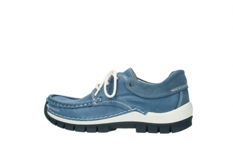 wolky chaussures a lacets 04701 fly 20890 cuir bleu_2