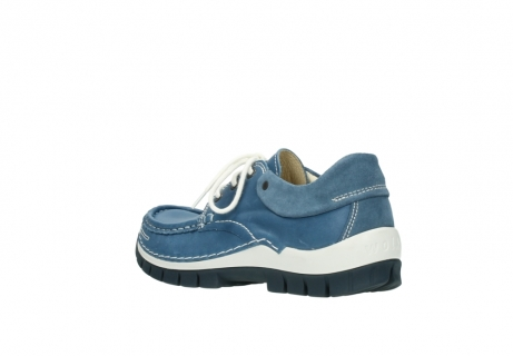wolky chaussures a lacets 04701 fly 20890 cuir bleu_4
