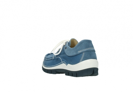 wolky chaussures a lacets 04701 fly 20890 cuir bleu_5