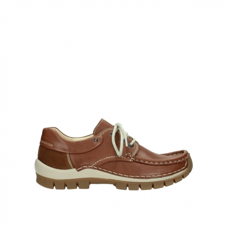 wolky chaussures a lacets 04701 fly 70430 cuir cognac