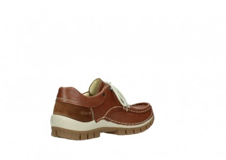 wolky chaussures a lacets 04701 fly 70430 cuir cognac_10