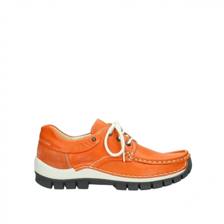 wolky chaussures a lacets 04701 fly 70550 cuir orange