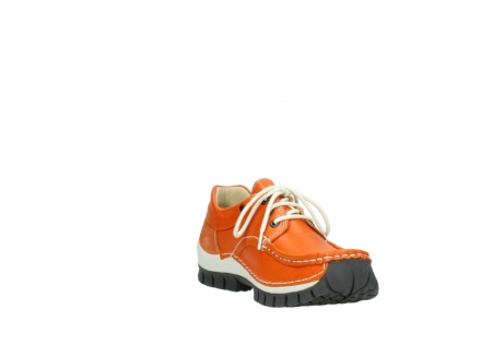 wolky chaussures a lacets 04701 fly 70550 cuir orange_17