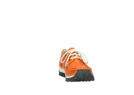wolky chaussures a lacets 04701 fly 70550 cuir orange_18