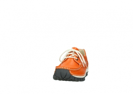 wolky chaussures a lacets 04701 fly 70550 cuir orange_20