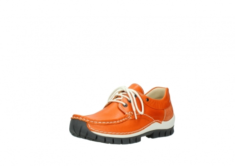 wolky chaussures a lacets 04701 fly 70550 cuir orange_22