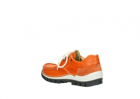 wolky chaussures a lacets 04701 fly 70550 cuir orange_4