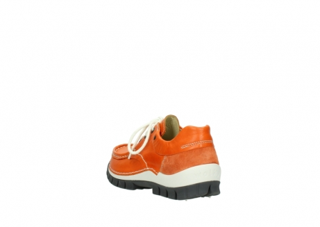 wolky chaussures a lacets 04701 fly 70550 cuir orange_5