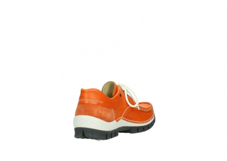 wolky chaussures a lacets 04701 fly 70550 cuir orange_9