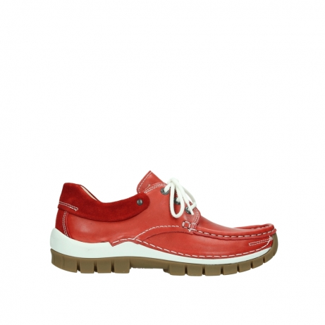 wolky chaussures a lacets 04701 fly 70570 cuir rouge