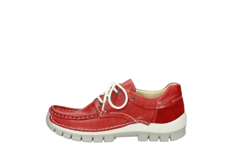 wolky chaussures a lacets 04701 fly 70570 cuir rouge_1