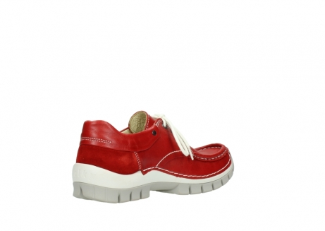 wolky chaussures a lacets 04701 fly 70570 cuir rouge_10