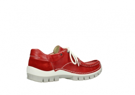 wolky chaussures a lacets 04701 fly 70570 cuir rouge_11