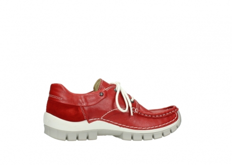 wolky chaussures a lacets 04701 fly 70570 cuir rouge_12