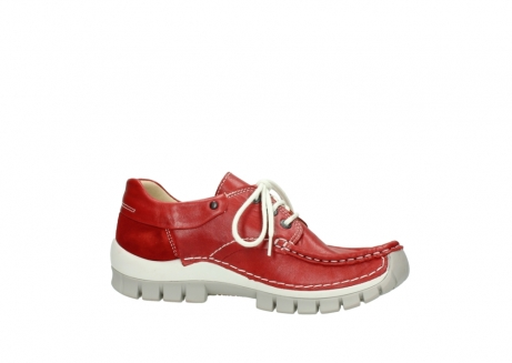 wolky chaussures a lacets 04701 fly 70570 cuir rouge_14