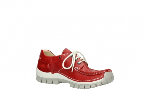 wolky chaussures a lacets 04701 fly 70570 cuir rouge_15