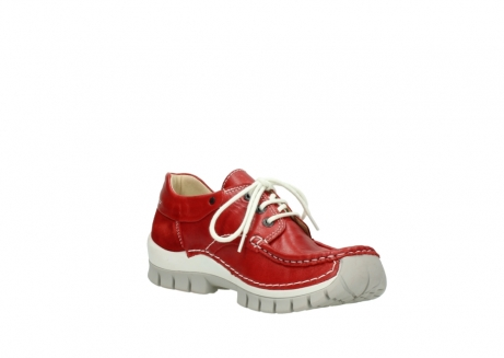 wolky chaussures a lacets 04701 fly 70570 cuir rouge_16