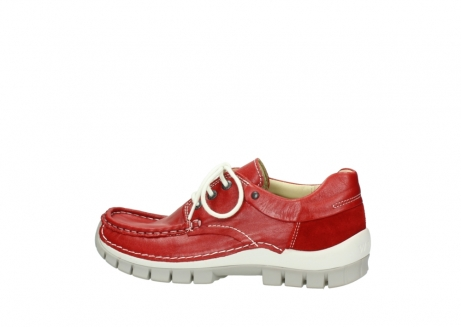 wolky chaussures a lacets 04701 fly 70570 cuir rouge_2