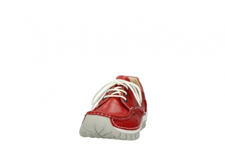 wolky lace up shoes 04701 fly 70570 red summer leather_20