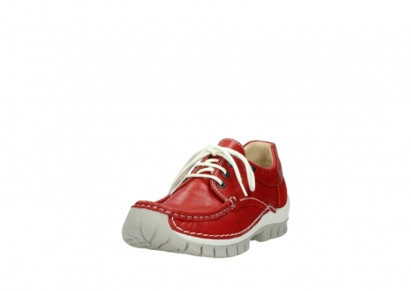 wolky chaussures a lacets 04701 fly 70570 cuir rouge_21