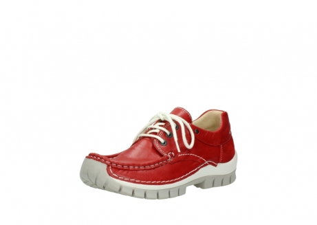 wolky chaussures a lacets 04701 fly 70570 cuir rouge_22