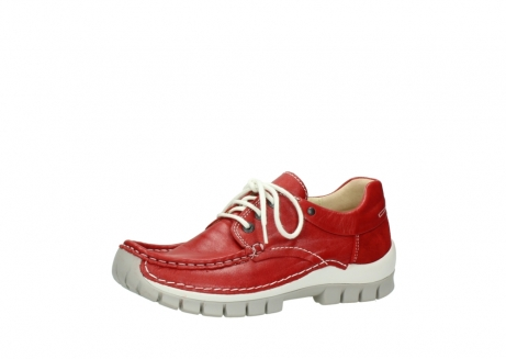 wolky chaussures a lacets 04701 fly 70570 cuir rouge_23