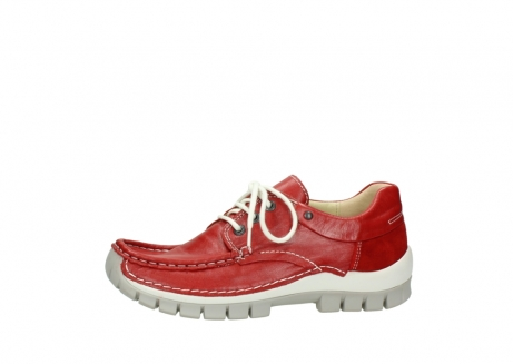 wolky chaussures a lacets 04701 fly 70570 cuir rouge_24