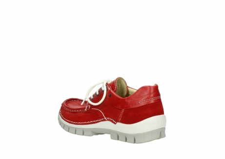 wolky chaussures a lacets 04701 fly 70570 cuir rouge_4