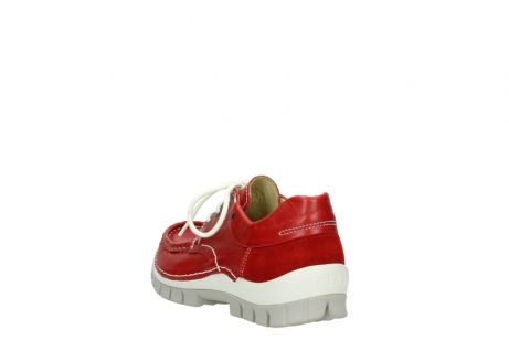wolky chaussures a lacets 04701 fly 70570 cuir rouge_5