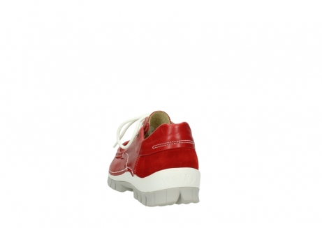wolky chaussures a lacets 04701 fly 70570 cuir rouge_6
