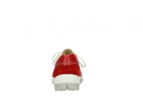 wolky chaussures a lacets 04701 fly 70570 cuir rouge_7