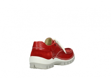 wolky chaussures a lacets 04701 fly 70570 cuir rouge_9