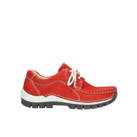 wolky chaussures a lacets 04705 kick summer 10500 nubuck rouge