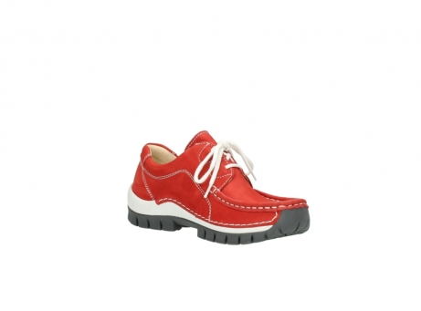 wolky chaussures a lacets 04705 kick summer 10500 nubuck rouge_16