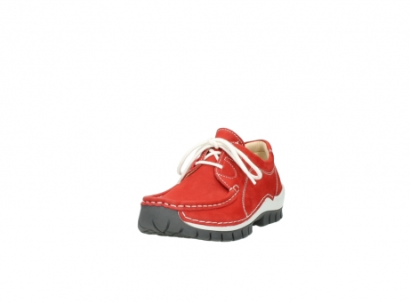 wolky chaussures a lacets 04705 kick summer 10500 nubuck rouge_21