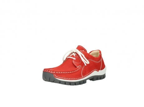 wolky chaussures a lacets 04705 kick summer 10500 nubuck rouge_22