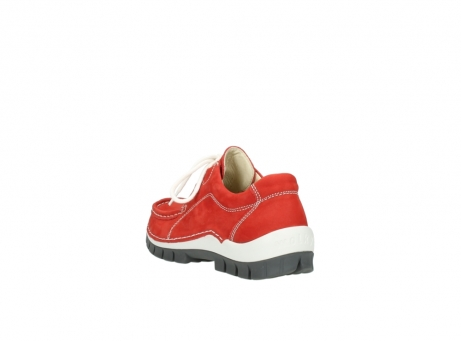 wolky chaussures a lacets 04705 kick summer 10500 nubuck rouge_5