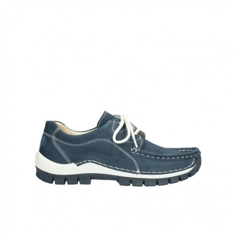 wolky veterschoenen 04705 kick summer 10820 denim blauw nubuck