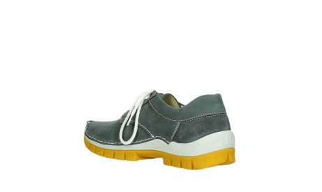 wolky lace up shoes 04708 seamy fly 10209 grey nubuck yellow sole_16