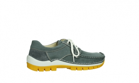 wolky lace up shoes 04708 seamy fly 10209 grey nubuck yellow sole_24