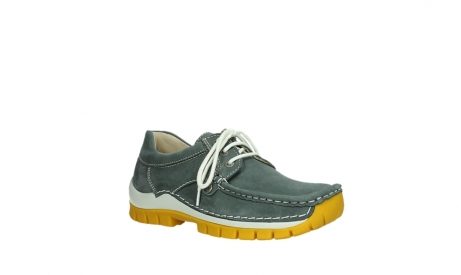 wolky lace up shoes 04708 seamy fly 10209 grey nubuck yellow sole_4