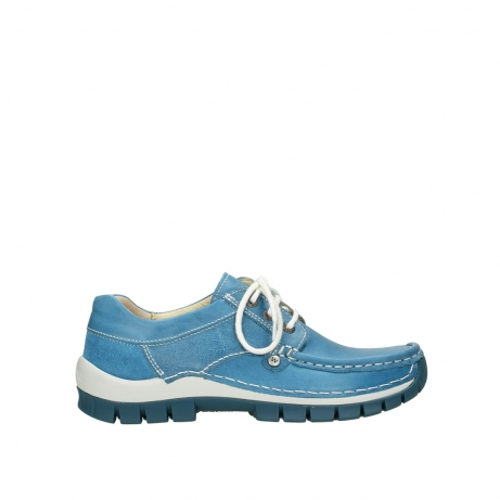 wolky lace up shoes 04708 seamy fly 35815 sky blue leather