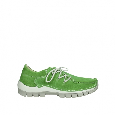wolky lace up shoes 04710 side 40740 applegreen oiled suede