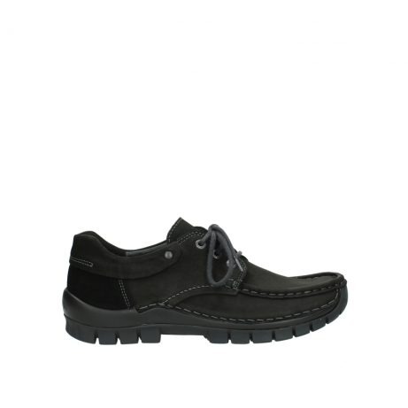 wolky veterschoenen 04726 fly winter 50000 zwart geolied nubuck