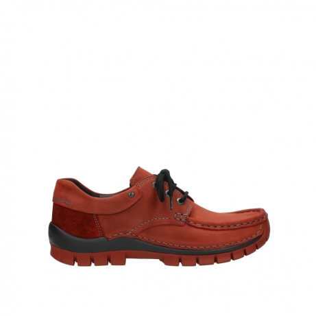 wolky lace up shoes 04726 fly winter 50540 winter red oiled leather