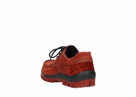 wolky lace up shoes 04726 fly winter 50540 winter red oiled leather_5
