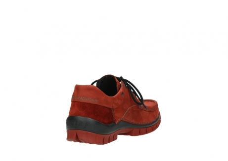 wolky lace up shoes 04726 fly winter 50540 winter red oiled leather_9